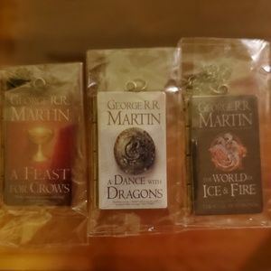 ALL THINGS THRONES: Book Pendant Necklaces